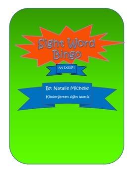 Kindergarten Sight Word Bingo - An Excerpt