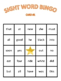Kindergarten Sight Word Bingo (Dolch)