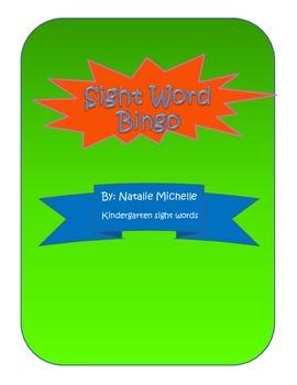 Kindergarten Sight Word Bingo - Full Version