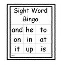 Kindergarten Sight Word Bingo Unit 2