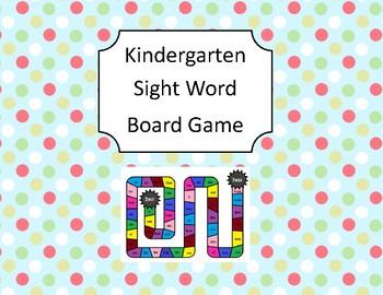 Kindergarten Sight Word Board Game