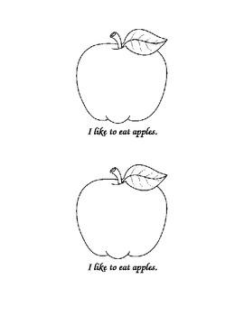 Kindergarten Sight Word Book: Eat