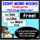 FREE Kindergarten Sight Word Book - See