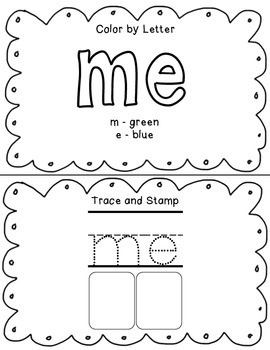 Kindergarten Sight Word Booklet Bundle