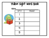 Kindergarten Sight Word Booklet