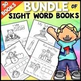Sight Words Books Kindergarten BUNDLE | First Week of School Activities Kinder