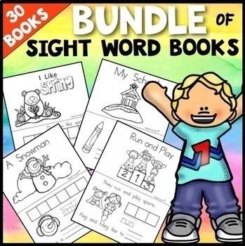 Sight Word Books (Paste, Trace, and Write) COMBO PACK