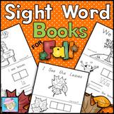 Fall Sight Word Books for Kindergarten   Kindergarten Sight Words Books