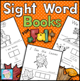 Fall Sight Word Books for Kindergarten | Kindergarten Sigh