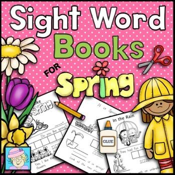 Sight Word Books for Spring   Spring Sight Word Books for Kindergarten