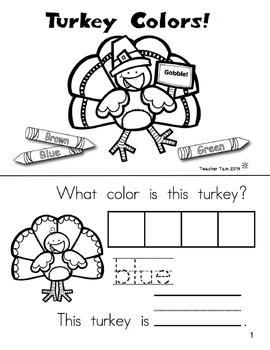 Thanksgiving Activities Sight Word Books Kindergarten