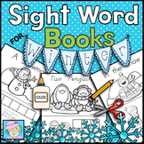 Winter Sight Word Books Paste Trace and Write