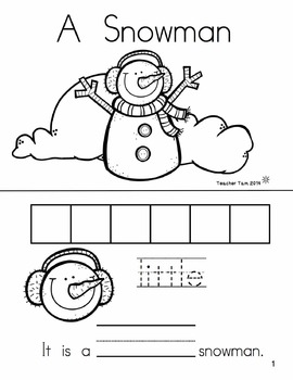 Winter Sight Word Books for Kindergarten | Kindergarten Sight Word Books