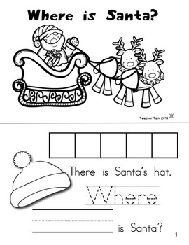 Christmas Sight Word Books for Kindergarten | Christmas Activities