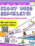 Kindergarten Sight Word Homework {Bracelets with QR Codes}