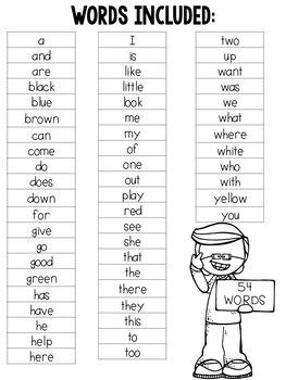 Kindergarten Sight Word Bundle