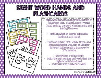 Kindergarten Sight Word Bundle - Aligned with Wonders