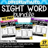 BUNDLE | Kindergarten Sight Word Practice