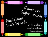 Kindergarten Sight Word Card Bundle - Crayon Theme