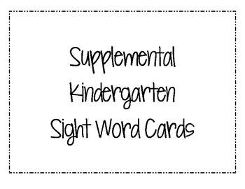 Word Wall Cards: Kindergarten Sight Words