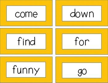 Kindergarten Sight Word Cards
