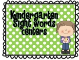 Kindergarten Sight Word Center