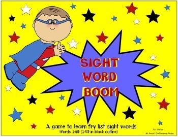 Kindergarten Sight Word Center:  English Words 1-60