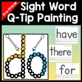 Kindergarten Literacy Centers with Q-Tips and Paint {40 Pages!}