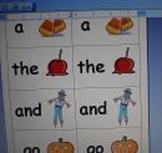 Kindergarten Sight Word Centers for October