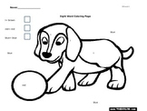 Kindergarten Sight Word Coloring Pages Full Version