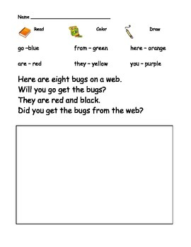 Sight Word Comprehension worksheets