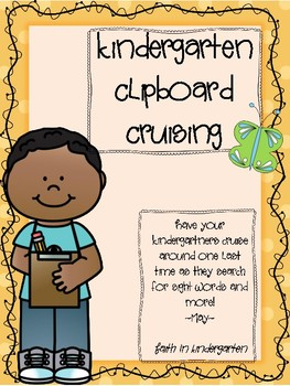 Kindergarten Sight Word & Digraph Write the Room ~ May
