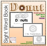 Kindergarten Sight Word Donut Book FREEBIE