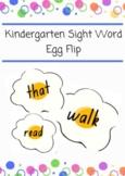 Kindergarten Sight Word Egg Flip