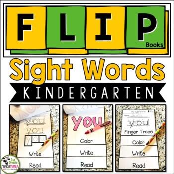 Kindergarten Sight Word FLIP Books