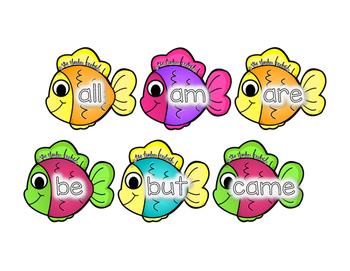 Kindergarten Sight Word Fishing Game