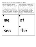 Kindergarten Sight Word Flash Cards 1st quarter (Paperclip flash cards)