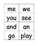 Kindergarten Sight Word Flash Cards