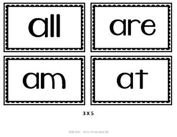 Kindergarten Sight Word Flashcards - Dolch List