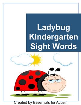 Kindergarten Sight Word Flashcards - Ladybug Theme