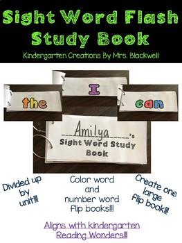 Kindergarten Sight Word Flipbooks