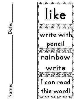 Sight Word Flippers for Kindergarten: 52 Words