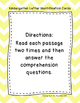 Kindergarten Sight Word Fluency Passages with Comprehension Questions DORF