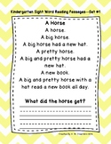 Kindergarten Sight Word Fluency Passages with Comprehension Questions Sets 1-10