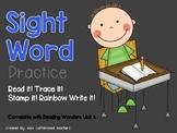 Kindergarten Sight Word Fluency Practice- Read it! Write i