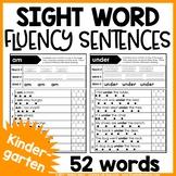 Kindergarten Sight Word Fluency Sentences