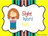 Kindergarten: Sight Word Sheets - NO PREP - Simple Format {RF.K.1 -2 & RF.K.3}