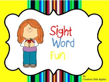 Kindergarten: Sight Word Sheets - NO PREP - Simple Format {RF.K.1 -2 & RF.K.3}