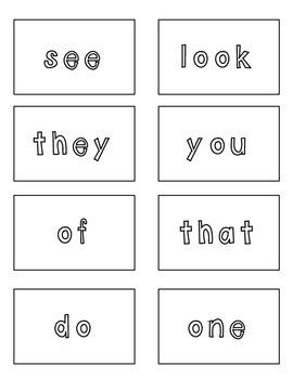 Kindergarten Sight Word Fun Flash Cards