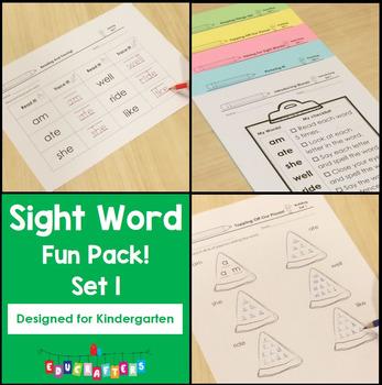 Sight Words Fun Pack for Kindergarten: Set 1